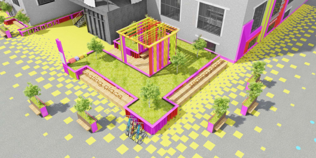 IND architects (Москва). Проект комплексного благоустройства. Иллюстрация предоставлена организаторами конкурса.