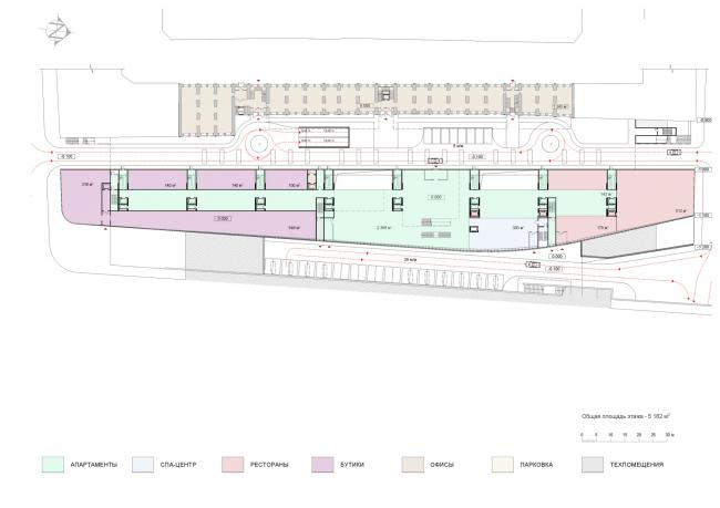 План 1 этажа. Проект мастерской «Сергей Скуратов ARCHITECTS»