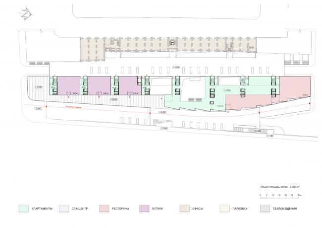 План 2 этажа. Проект мастерской «Сергей Скуратов ARCHITECTS»