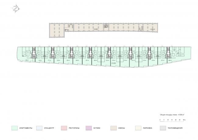 План 3 этажа. Проект мастерской «Сергей Скуратов ARCHITECTS»