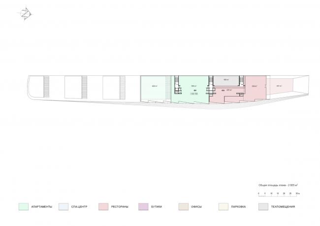 План 8 этажа. Проект мастерской «Сергей Скуратов ARCHITECTS»