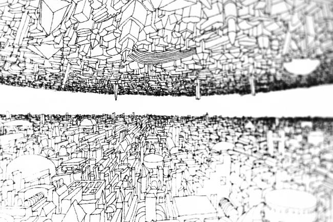 Графика Тотана Кузембаева. Выставка «Гравитация». Фотография Ю.Тарабариной