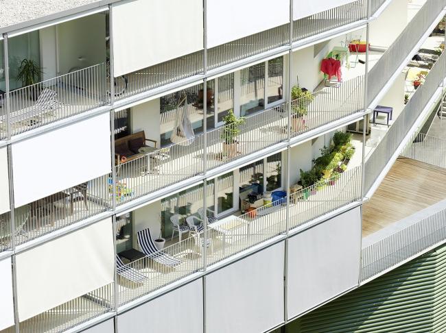 Жилой комплекс Messequartier © Paul Ott