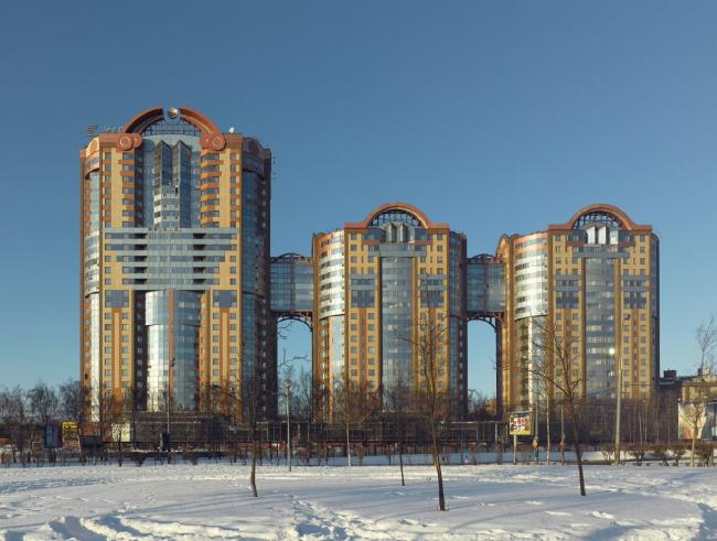 Жилой комплекс в Кунцево. Москва, 2002/2010. © Frank Herfort