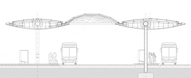 Пересадочный узел вокзала Граца © Zechner & Zechner