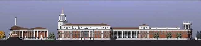 Административно-общественный центр комплекса Park Vill с английской школой в Жуковке © Михаил Белов