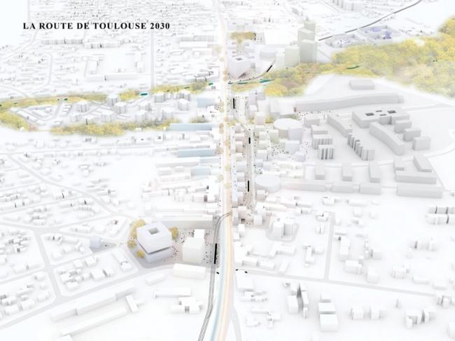 Мастерплан реконструкции районов Бегль и Вильнав-д`Орнон © OMA