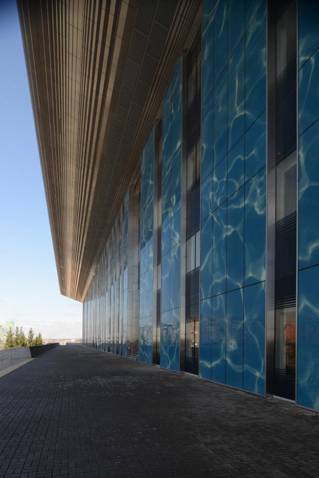 Дворец водных видов спорта в Казани. Главный фасад