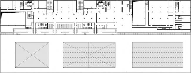 Дворец водных видов спорта в Казани. План второго этажа.  SPEECH Чобан&Кузнецов