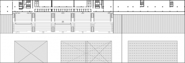 Дворец водных видов спорта в Казани. План пятого этажа.  SPEECH Чобан&Кузнецов