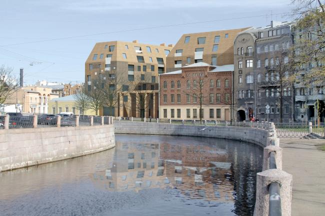Предпроектные предложения по строительству жилого комплекса на набережной реки Карповки