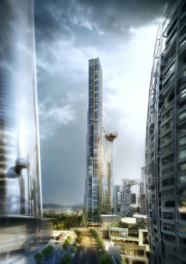 Башня Block H. © Kohn Pedersen Fox Associates (KPF)