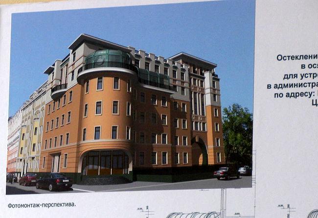 Проект остекления балкона для устройства зимнего сада в пер. Мал. Головин, 5-7.