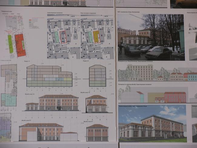 Предпроект регенерации застройки под административное здание на Новой Басманной ул.18,стр.2,3,4