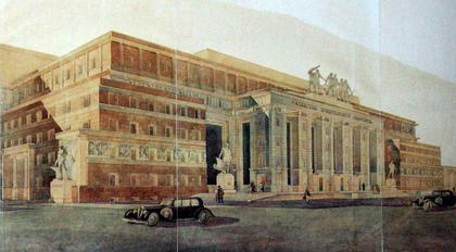 Илл. 2. Проект Академии коммунального хозяйства, И.А.Голосов, 1934. ©