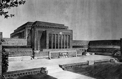 Илл. 4. Проект здания Ассамблеи Лиги Наций в Женеве, Дж.Ваго, 1929. ©