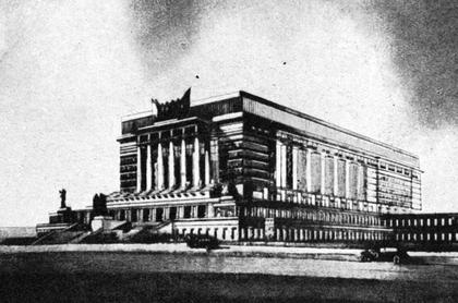 Илл. 5. Проект театра в Минске, И.А.Голосов, 1934. ©
