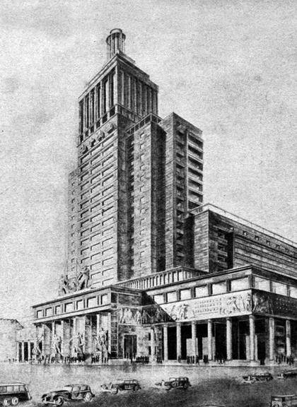 Илл. 8. Проект Дома книги, И.А.Голосов, 1934. ©
