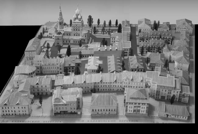 Проект жилого района в Кадашевской слободе. Макет.  «Студия Уткина»