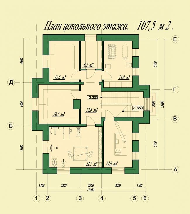 План цокольного этажа. © АСБ Карлсон & К