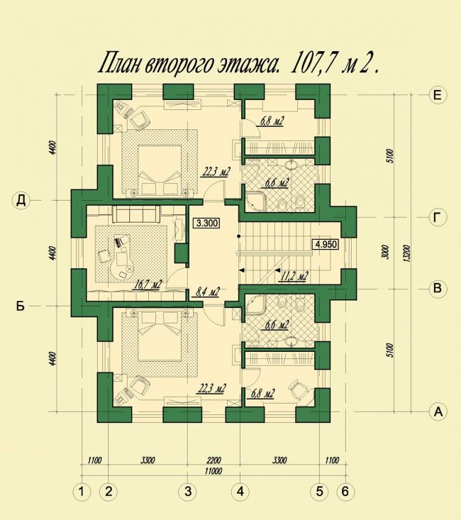 План второго этажа. © АСБ Карлсон & К