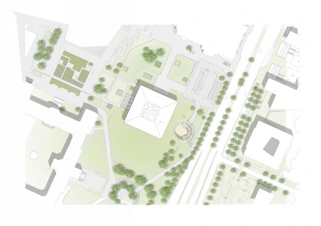 Гражданский и пресс-центр парламента земли Баден-Вюртемберг © Henning Larsen Architects