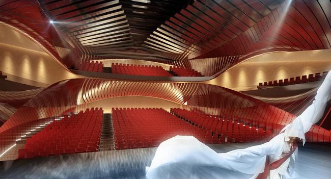 Центр исполнительских искусств в Сечжоне ©  Asymptote Architecture