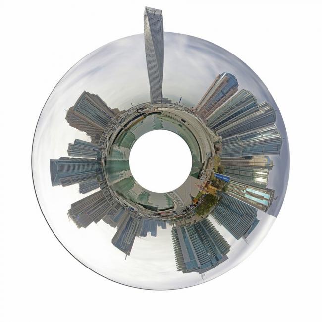 Небоскреб Cayan Tower. Предоставлено Skidmore Owings & Merrill