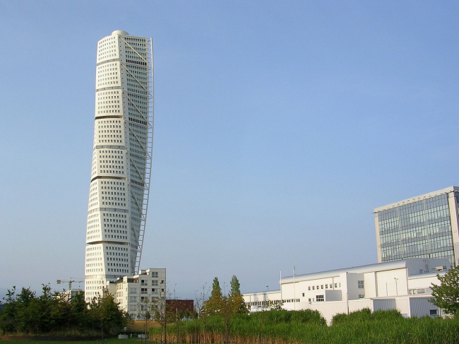 Башня Turning Torso. Фото: Väsk via Wikimedia Commons. Лицензия Creative Commons Attribution-Share Alike 3.0 Unported