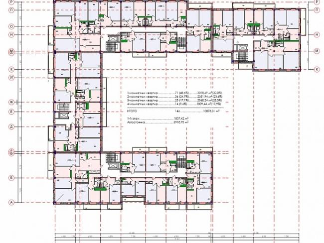 Жилой комплекс «Дымка». План © Архитектурная мастерская Константина Павлова