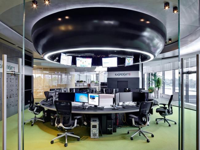 Интерьер штаб-квартиры компании «Лаборатория Касперского». ABD Architecta