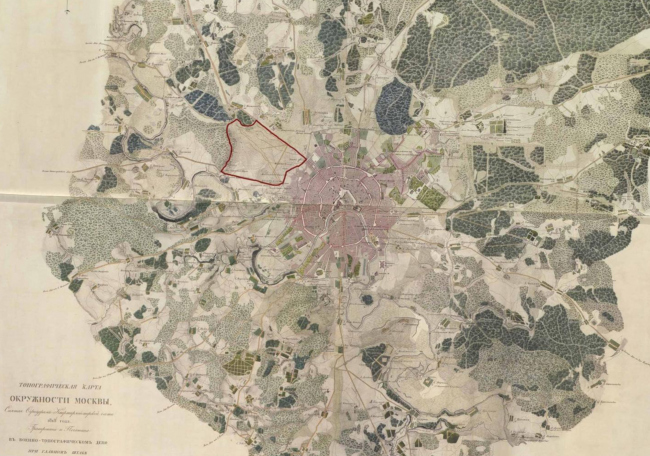 Топографическая карта Москвы. Архив. Фотография предоставлена организаторами конкурса