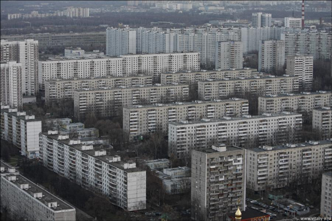 Москва 1950-х - 1980-х гг. Фотография из презентации Сергея Кузнецова
