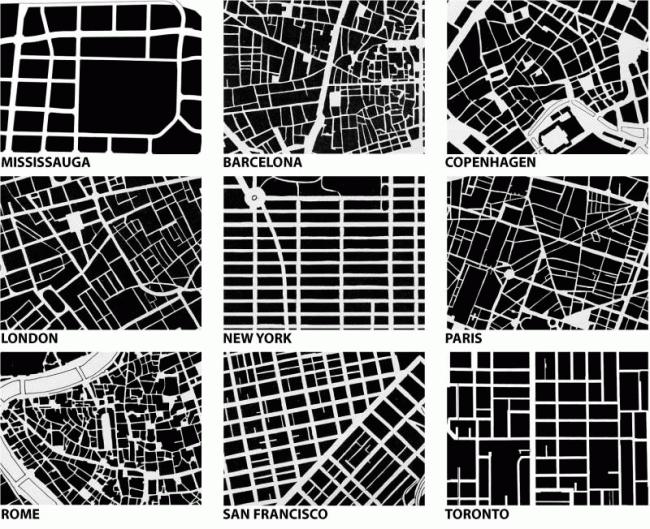 Уличная сеть при квартальной застройке. Из презентации Андрея Гнездилова