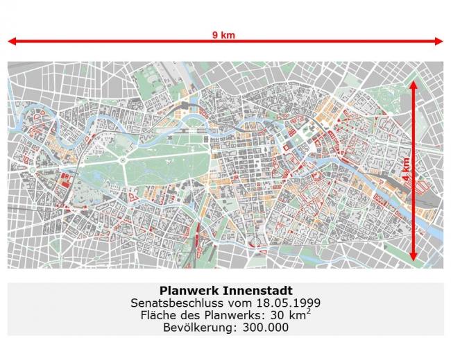 План центральной части города. Из презентации Ханса Штимманна