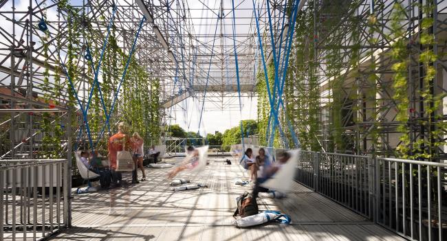 Павильон Schaustelle. Фото © J. Mayer H. Architects