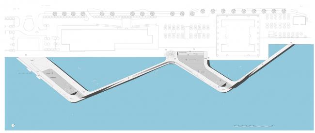 Набережная Кальвебод Брюгге - реконструкция © JDS Architects
