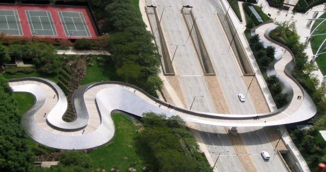 Примеры площадей и парков. Миллениум парк в Чикаго. Из презентации Сергея Кузнецова