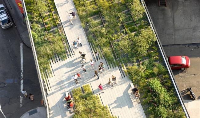 Хайлайн парк в Нью-Йорке. Из презентации Сергея Кузнецова