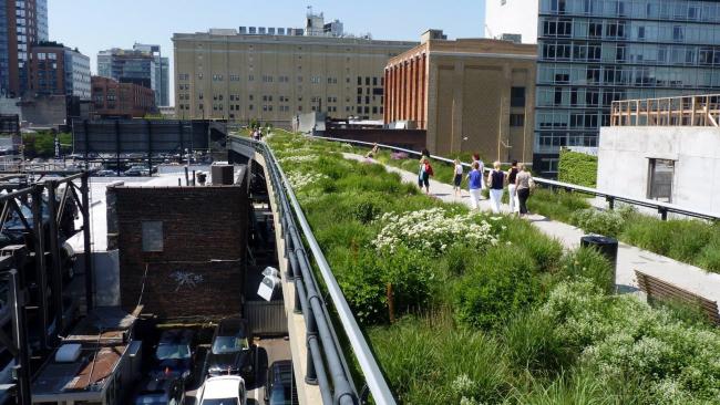 High Line в Нью Йорке. Из презентации Надежды Нилиной
