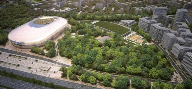 Территория парка «Динамо». Из презентации Андрея Перегудова