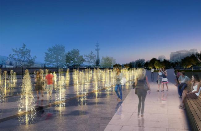 Проект реконструкции Крымской набережной. Сухой фонтан. Из презентации Олега Шапиро