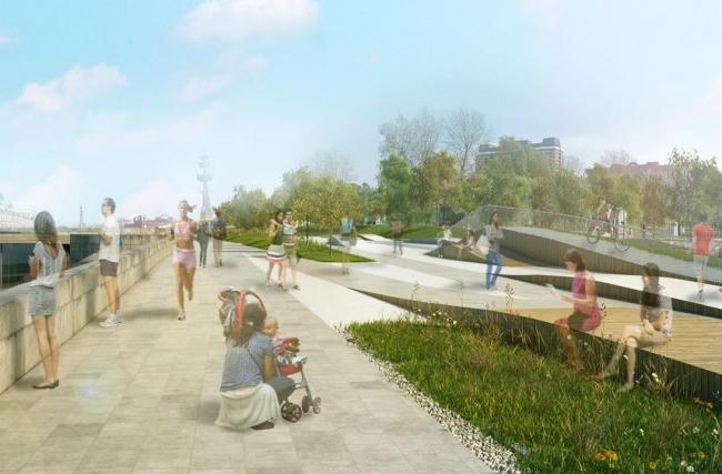 Проект реконструкции Крымской набережной. Из презентации Олега Шапиро