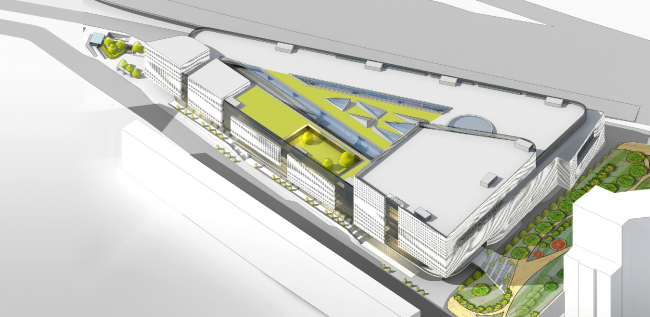 МФЦ «Славянка»: концепция решения фасадов. © Архитектурное бюро Асадова