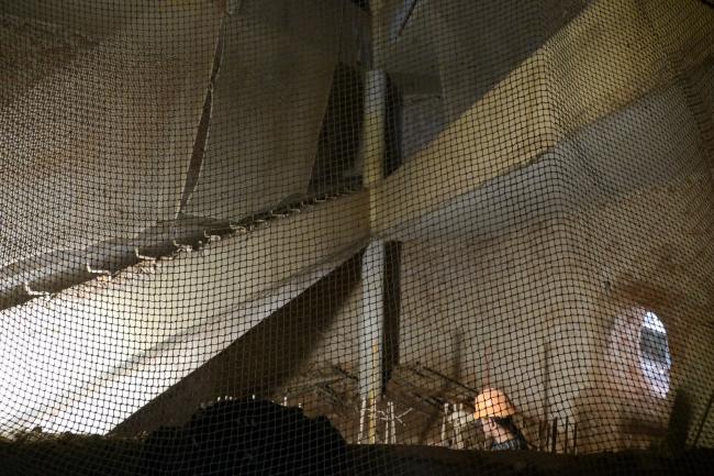 Средний блок, низ пандуса. Фотография Е.Шорбан, 2013