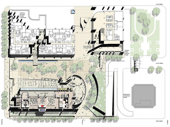 Здание Федерального суда США в Сан-Диего © Richard Meier & Partners Architects LLP