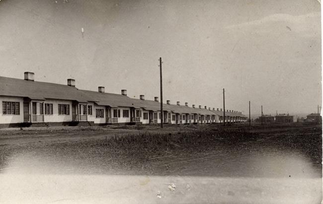Блокированные дома для шахтеров («дома-колбасы») на Красной Горке в Кемерово. 1926. Архитектор Йоханнес ван Лохем. Фото предоставлено музеем-заповедником «Красная Горка»