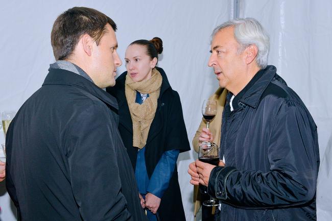 Главный архитектор Москвы Сергей Кузнецов и специальный гость презентации архитектор Энрике Собехано. Фото: Лариса Пашкова