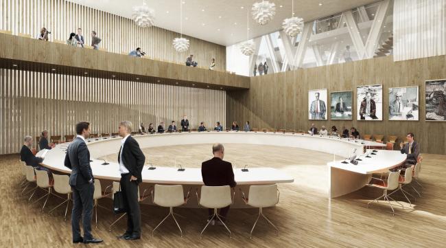 Здание муниципалитета города Кируна © Henning Larsen Architects