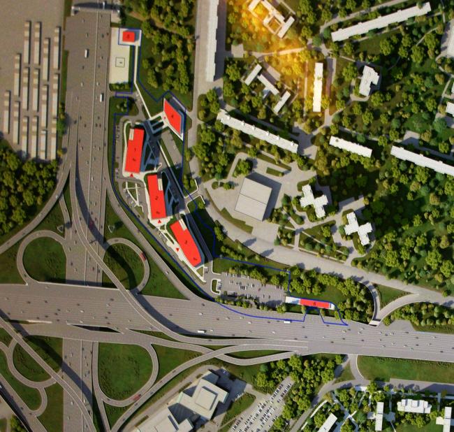 """Ситуация. Проект выставочно-делового центра на Можайском шоссе, вл. 60. Заказчик ЗАО «Центурион Парк». Проектная организация мастерская """"ABD architects"""""""